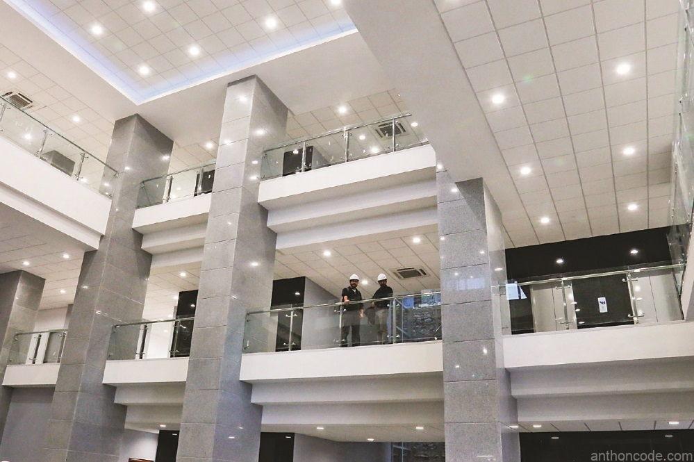 Evo Morales building inside