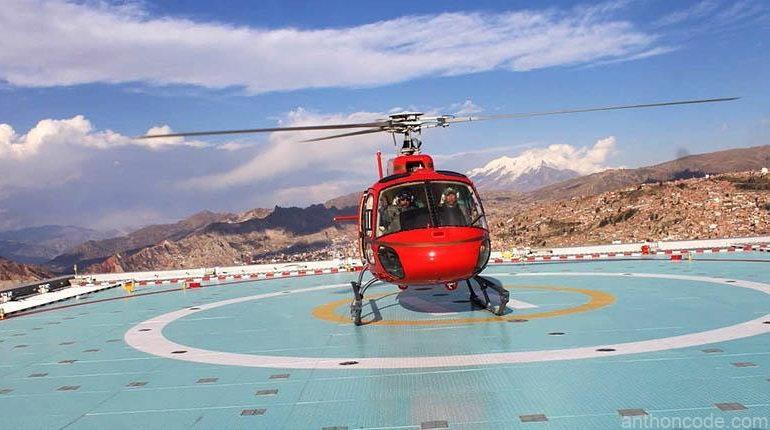 helicóptero Rojo de Evo