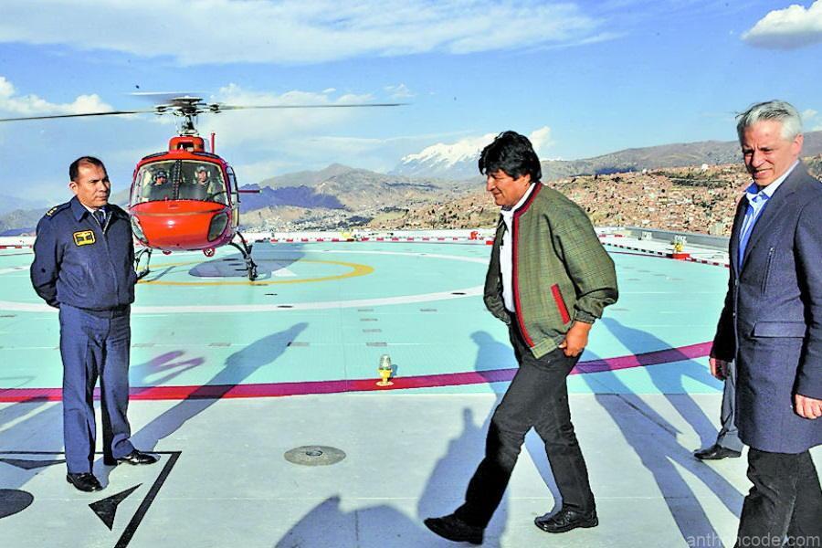 helipuerto de Evo Morales lujos de Evo