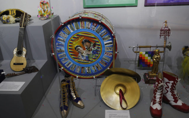 musical instruments of evo morales in the museum