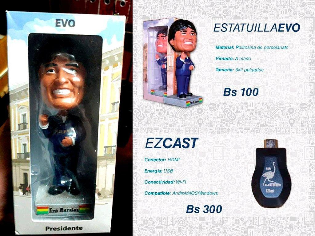 juguetes de Evo Morales