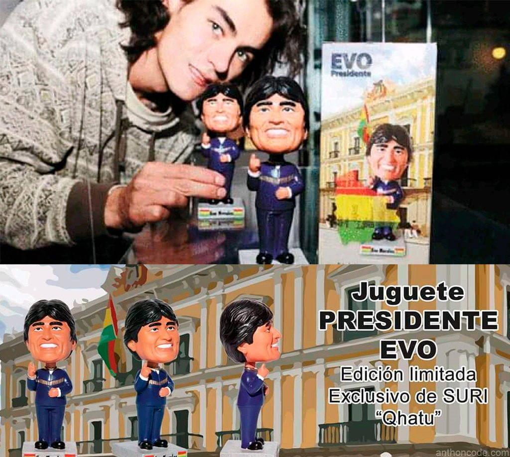 juguetes para niños de Evo Morales