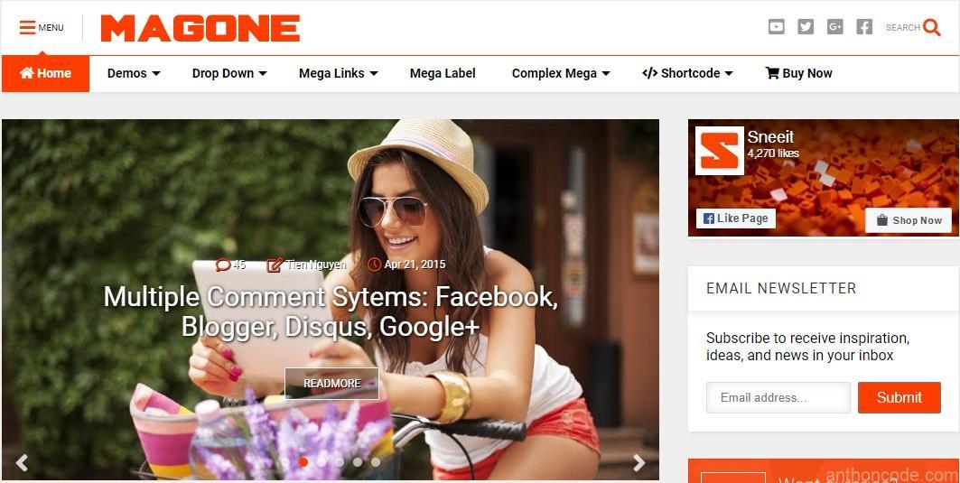Plantilla para Blogger de Revistas y Noticias