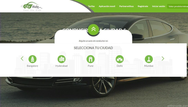 Servicio de alquiler de vehículos en lenguaje PHP CodeIgniter
