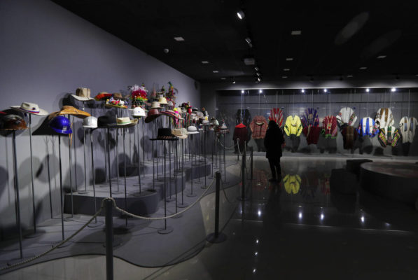 Evo hats and ponchos in the Museum