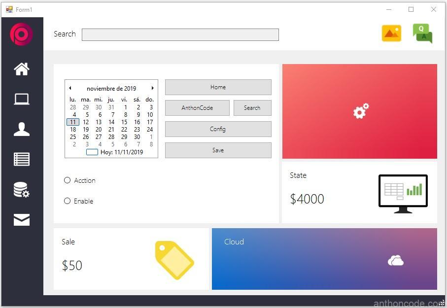 Interfaz con Bunifu UI en Visual Basic NET