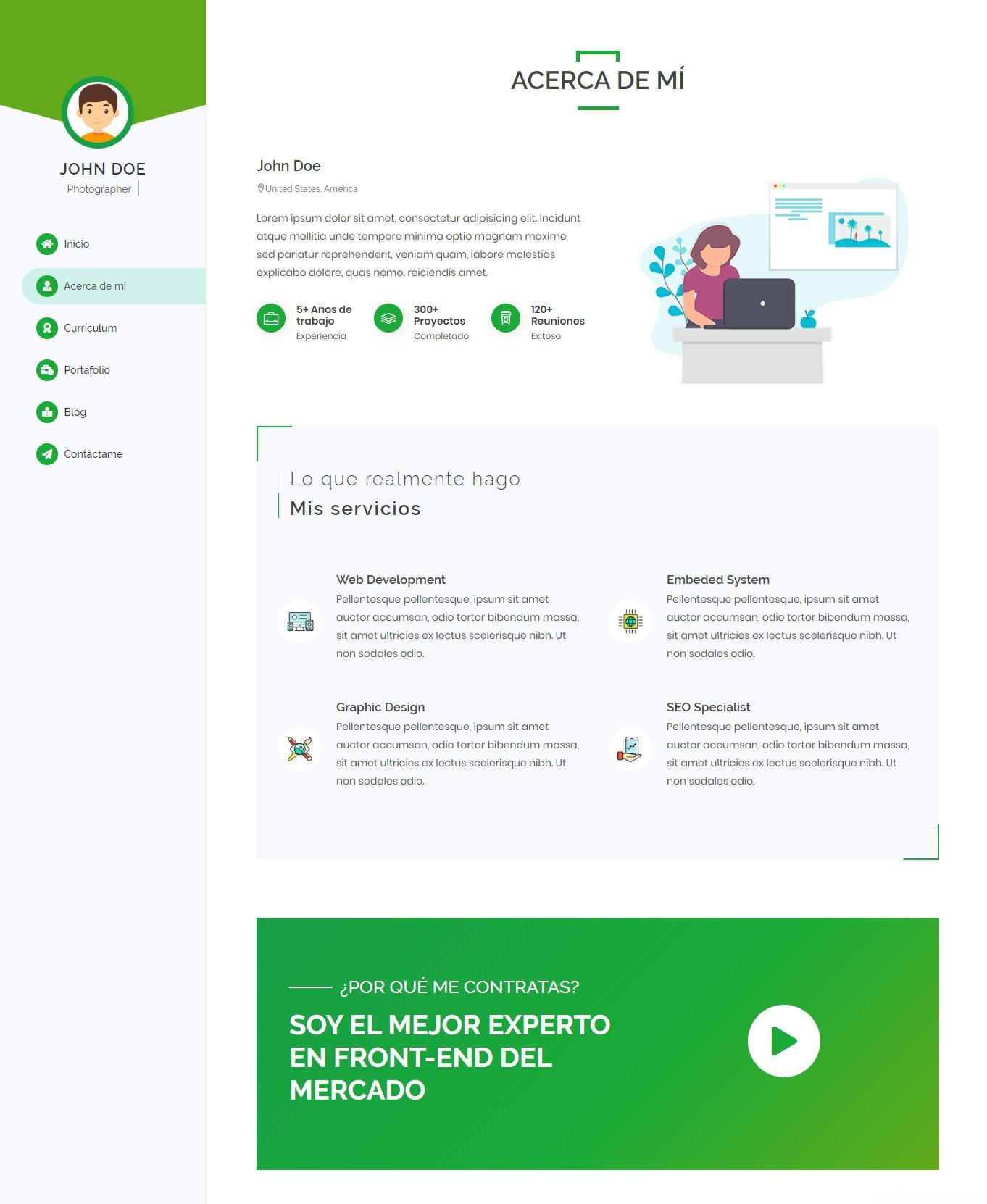 tema portafolio web para diseño gráfico