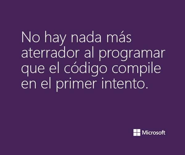 aterrado al programar