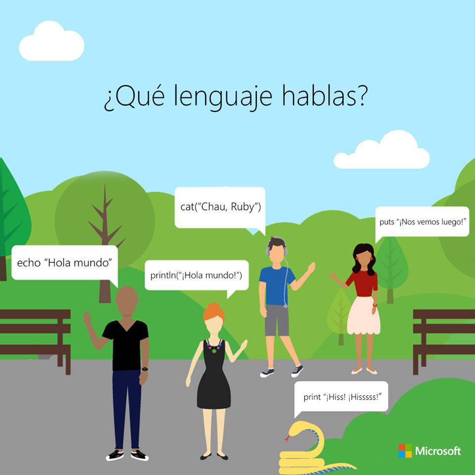 en lenguaje de programación hablas
