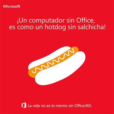 un computador sin office es coomo un hotdog sin salchicha