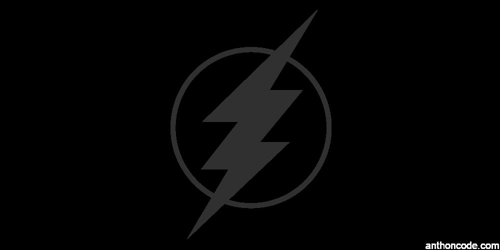 logo flash dark