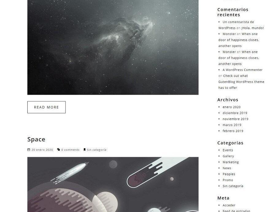 Plantilla Maiden Portafolio para WordPress