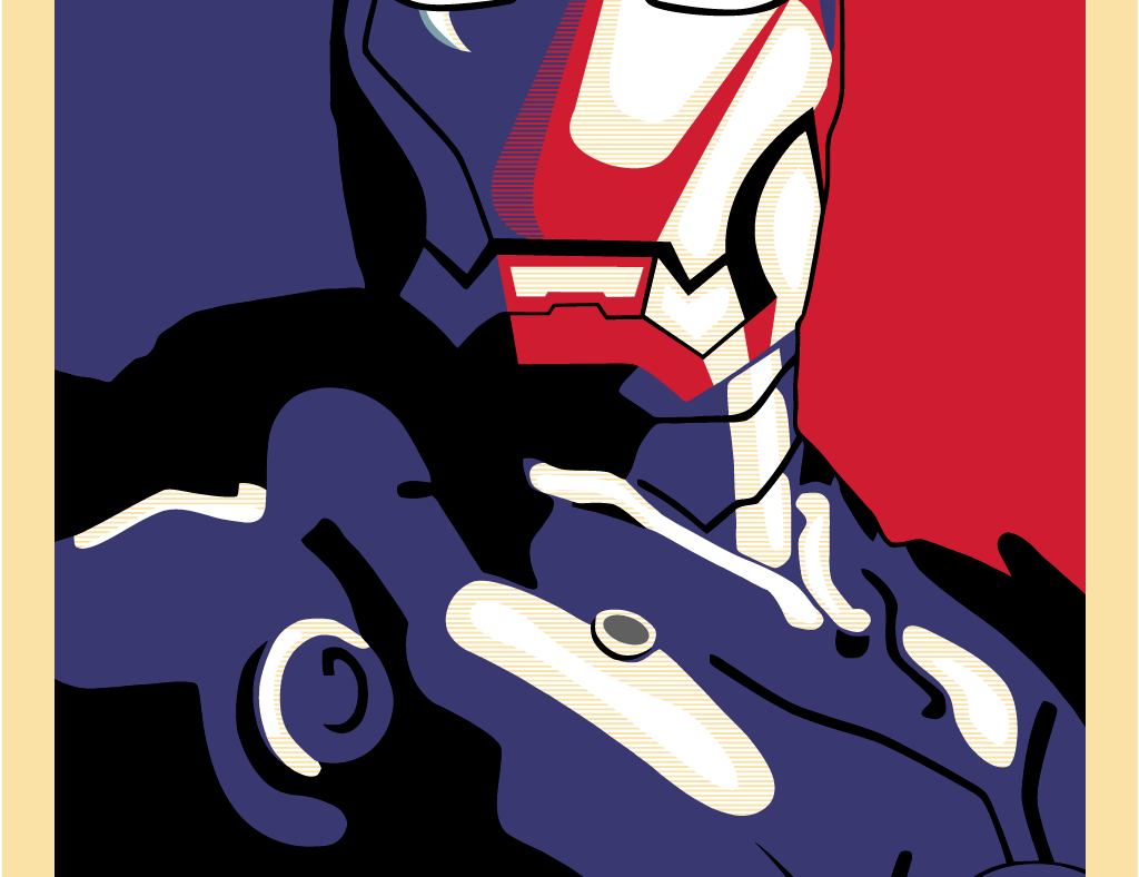 Iron Man Hope Poster in vector format