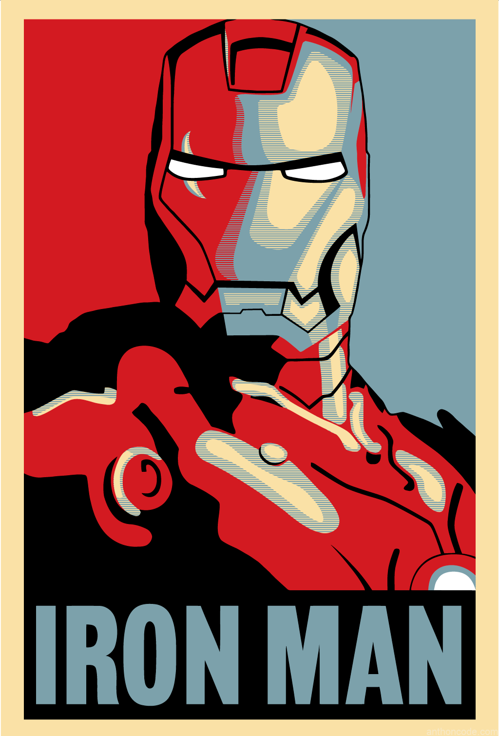 Iron Man 2 Shepard Fairey Art in Iron Man