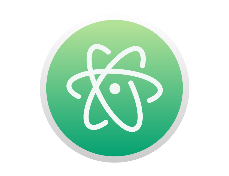Logo Atom Software - Vector PNG