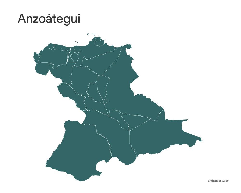 Mapa Anzoátegui