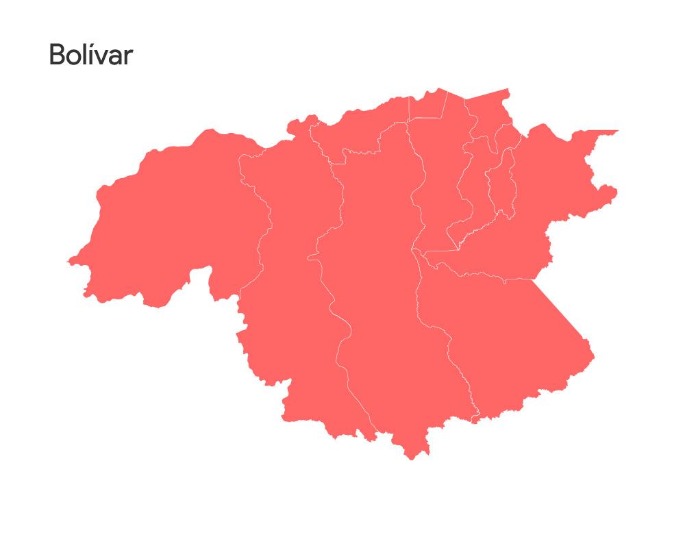 mapa estado Bolivar