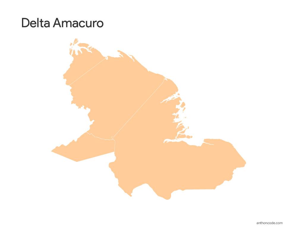 Delta Amacuro Mapa