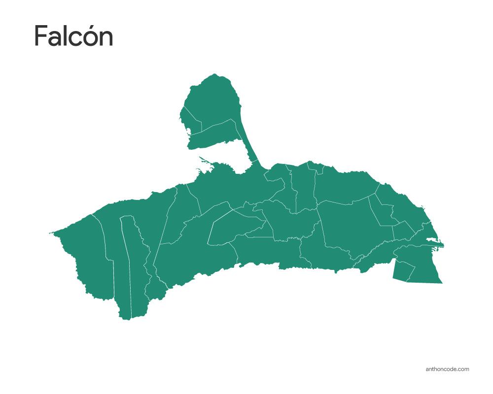 Mapa Falcón
