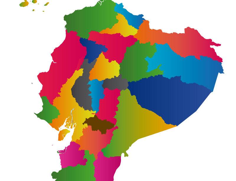 Mapa político de Ecuador y Provincias