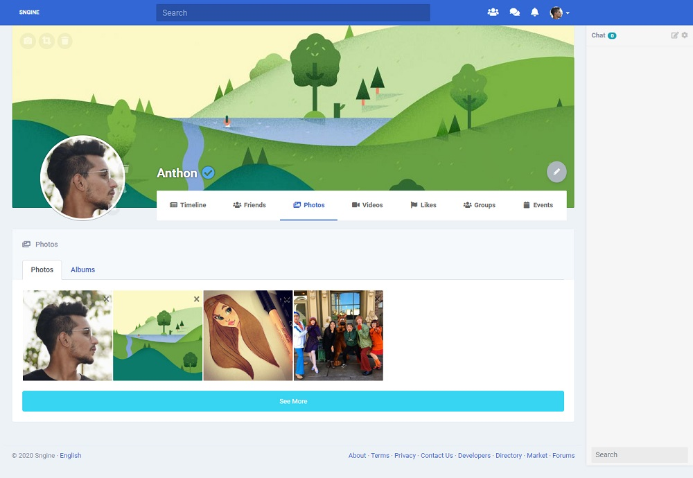 red social perfil de usuario código fuente php