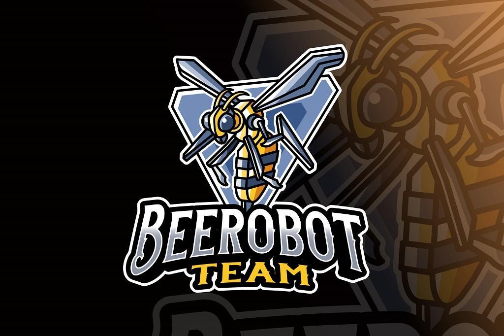 Logotipo Abeja Robot para Esports