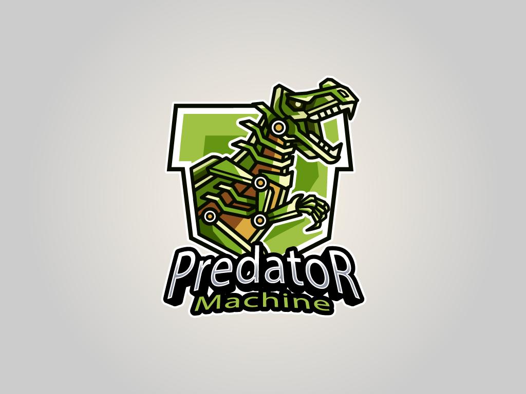 Mascota Dinosaurio Robot Logotipo Esports