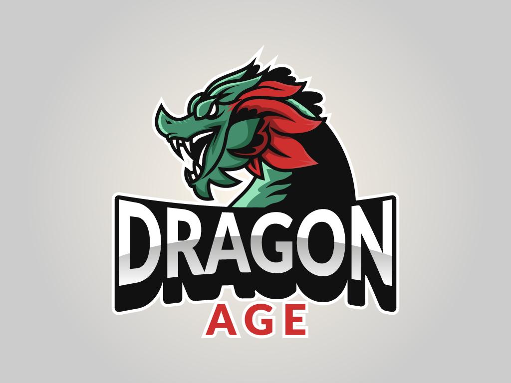 Dragón Logotipo Mascota Esports