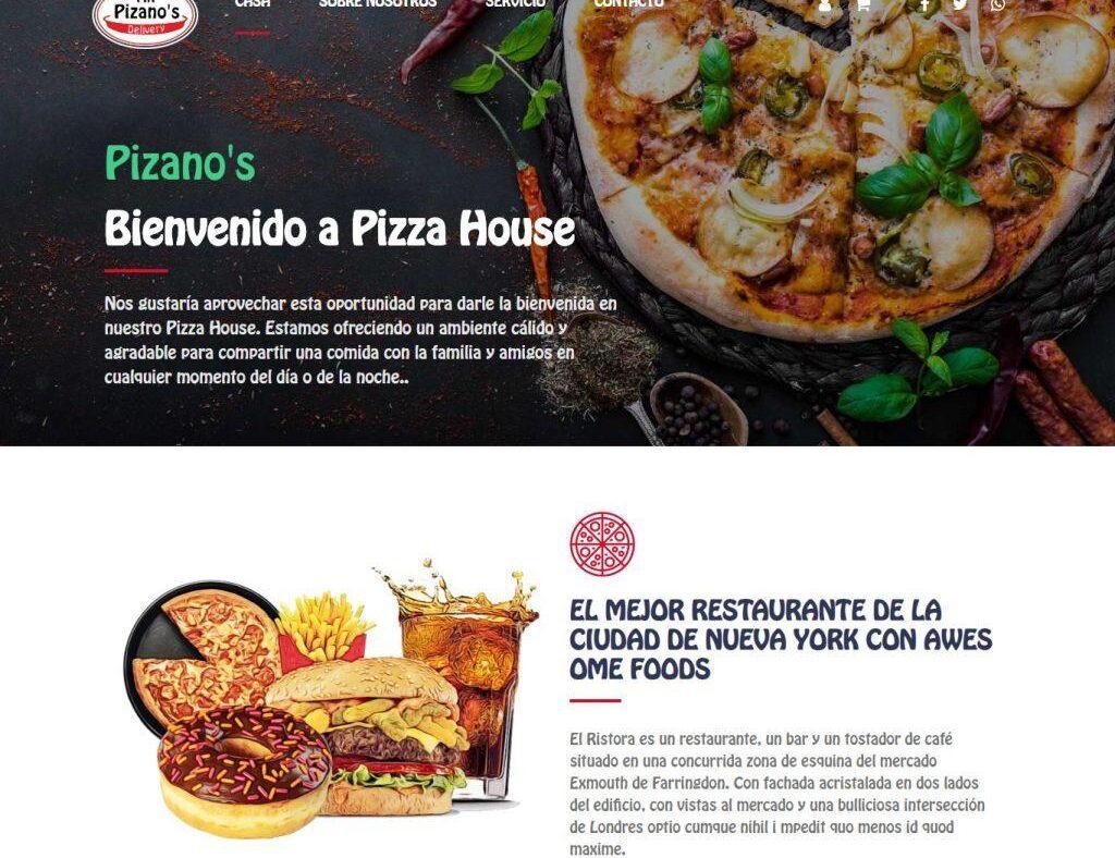 Delivery Pizza en Laravel - Plantilla Web