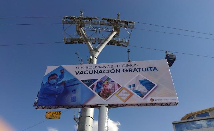 propaganda política con las vacunas Bolivia