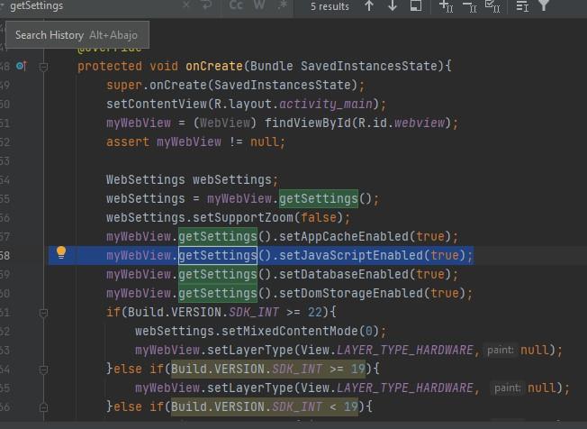webview javascript